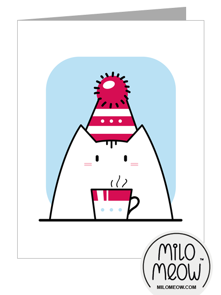 MILO-MEOW-CAT-CARD-Christmas-New-Year-Happy-Birthday-red-hat-cup-preview