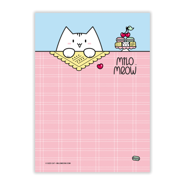 MILO-TODO-LIST-SET-001-Sweet-Yummy-Time-01_preview01_Milo-Meow-Cat-cherry-berry-macarons-cakes-sweets-food_Kitten-Notepad–ToDo-List–Day-Planner–Memo-Pad–Shopping–Cat-Stationery-Gift