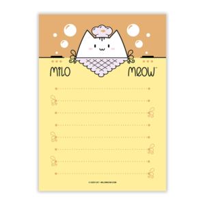 MILO-TODO-LIST-SET-001-Sweet-Yummy-Time-03_preview01_Milo-Meow-Cat-cook-chef-cooking-kitchen_Kitten-Notepad–ToDo-List–Day-Planner–Memo-Pad–Shopping–Cat-Stationery-Gift