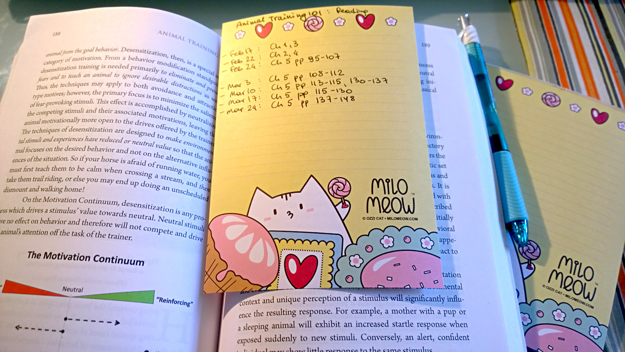 Make Smart Cat Bookmark Lists From Milo Meow Cat Notepad Pages